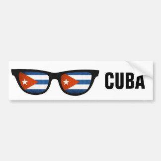 Cuban Shades custom text & color bumpersticker Car Bumper Sticker