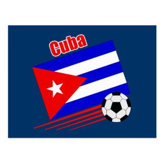 Cuban Soccer Team Postcard
