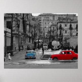Cuban Street Scene Poster