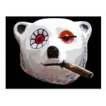 Cuban Teddy Bear with Cigar, Black Back Postcard
