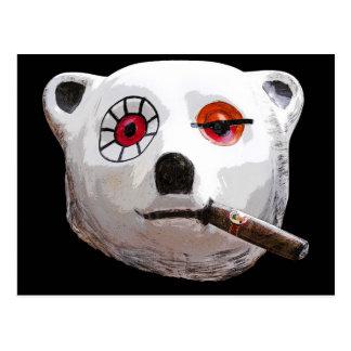 Cuban Teddy Bear with Cigar, Black Back Postcard