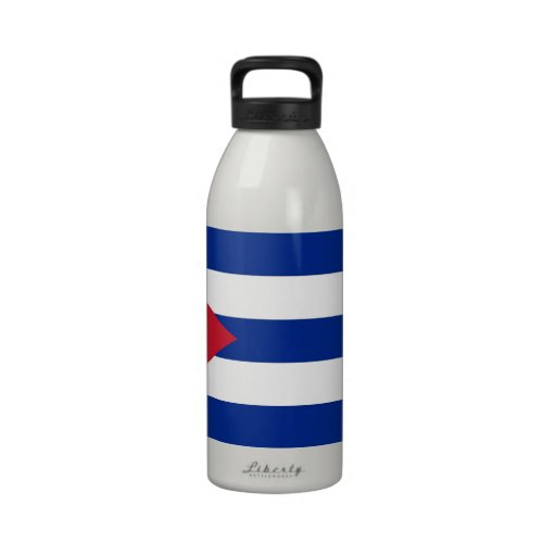 Cubanese Flag Liberty Bottle Reusable Water Bottles