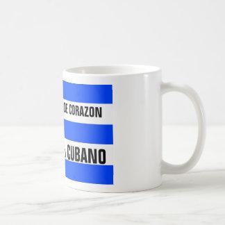Cubano de Corazon Mug Taza Básica Blanca