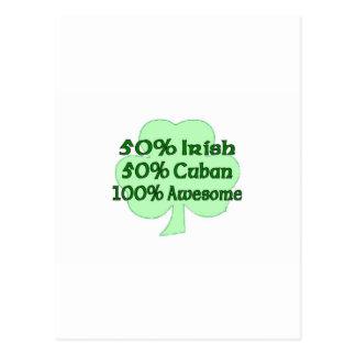 Cubano del irlandés el 50% del 50% el 100% impresi postal