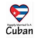 Cubano feliz casado tarjeta postal