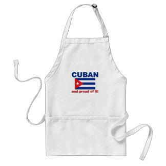 Cubano orgulloso delantal