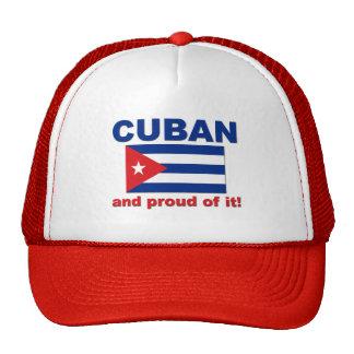 Cubano orgulloso gorros bordados