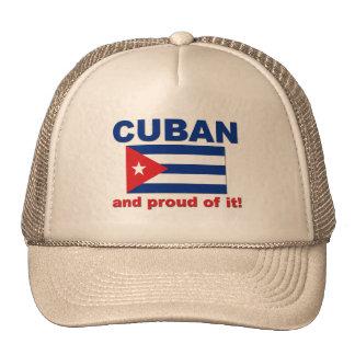 Cubano orgulloso gorras