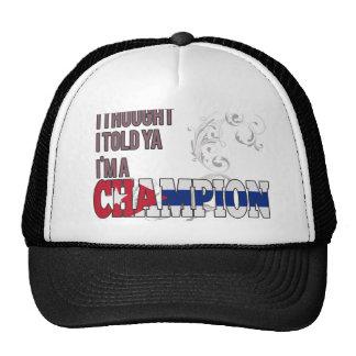 Cubano y un campeón gorra