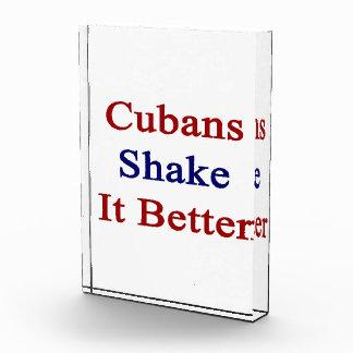 Cubans Shake It Better Acrylic Award