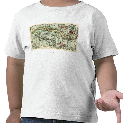 CubaPanoramic MapCuba Camisetas