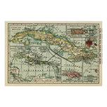 CubaPanoramic MapCuba Poster
