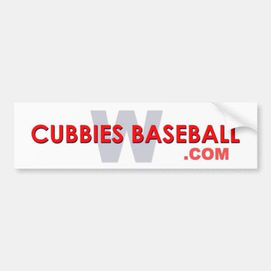 Cubbies Baseball W Bumper Sticker