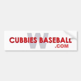 Cubbies Baseball W Car Bumper Sticker