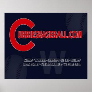 CubbiesBaseball.com Logo Posters