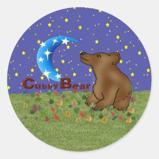 Cubby Bear Classic Round Sticker