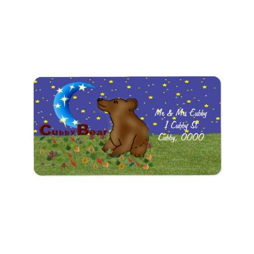 Cubby Bear Label