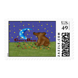 Cubby Bear Postage Stamp