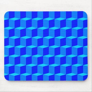 Cube 3 Dimensional 3D Pattern Design Mouse Pad