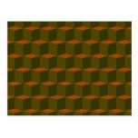 Cube 3 Dimensional 3D Pattern Design Post Card
