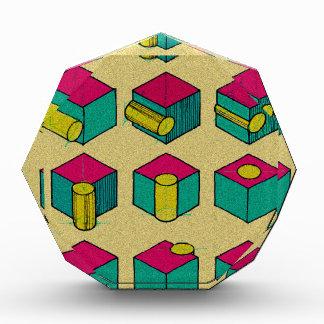 Cube and Cylinder Study Acrylic Award