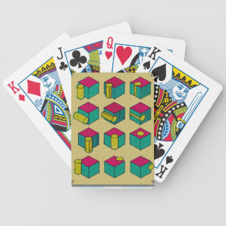 Cube and Cylinder Study Bicycle Playing Cards