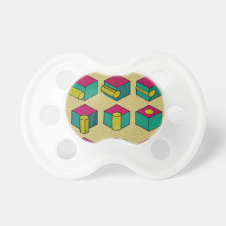 Cube and Cylinder Study Pacifier