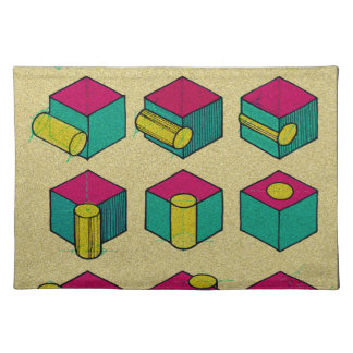 Cube and Cylinder Study Placemat