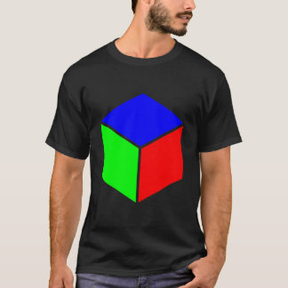 Cube - Blue, Green and Red T-Shirt