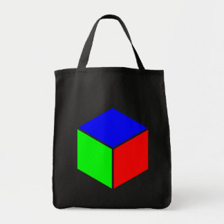 Cube - Blue, Green and Red Tote Bag