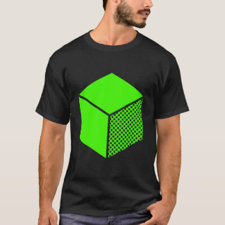 Cube - Chartreuse Green on Dark T-Shirt