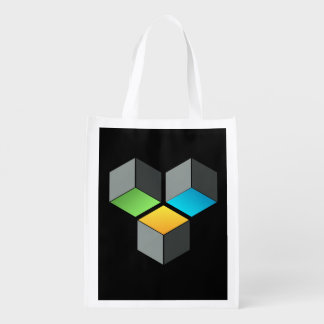 Cube Composition bag Market Tote