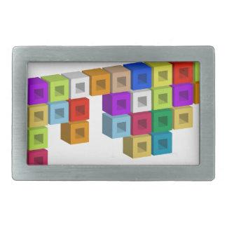 Cube composition belt buckle