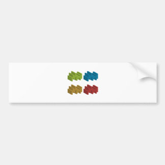 Cube composition bumper sticker