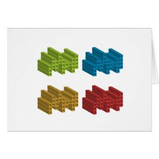 Cube composition card