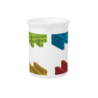 Cube composition drink pitcher