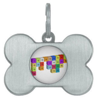Cube composition pet ID tags