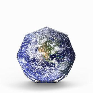 cube earth acrylic award