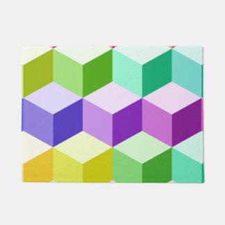 Cube Large Pattern Multicolored Doormat