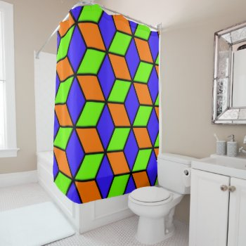 Cube Look Shower Curtain