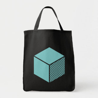 Cube - Lt Blue Green Tote Bag