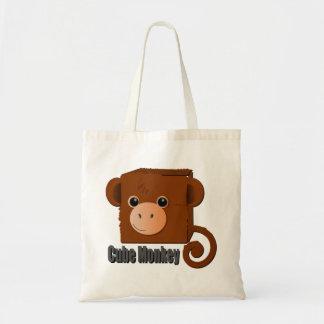 """Cube Monkey"" Cute Square Monkey Tote Bag"