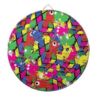 cube monsters pattern ProfiledInk Dart Board