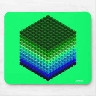 Cube of Cubes 3D Pattern Mouse Mat