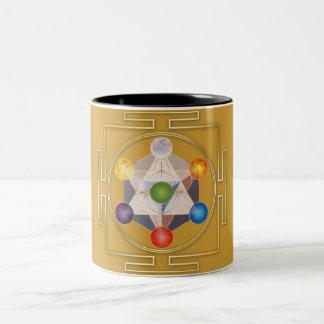 Cube of the Metatron Two-Tone Coffee Mug