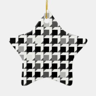 cube pattern (black 01) ceramic ornament