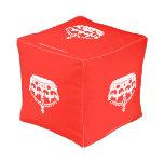 [Crown upside down]  Cube Pouf