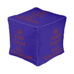[Crown] keep calm and eat ice-cream  Cube Pouf