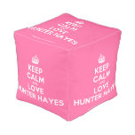 [Crown] keep calm and love hunter hayes  Cube Pouf