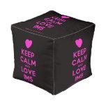 [Love heart] keep calm and love im5  Cube Pouf